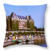 Buildings At The Waterfront, Empress Throw Pillow