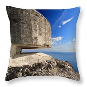 Bunker Over The Sea Throw Pillow