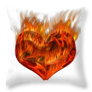 Burning Love  Brennende Liebe Throw Pillow