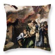 Burning Of Norfolk, 1776 Throw Pillow