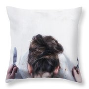 Burnout Throw Pillow by Joana Kruse