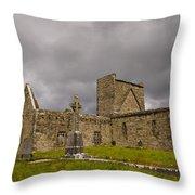 Burrishoole Friary, Ireland Throw Pillow