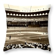 Busch Stadium - St Louis 1966 Throw Pillow