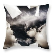 Business Papers Falling In The Sky Throw Pillow