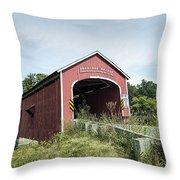 Buskirk Covered Bridge Throw Pillow