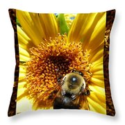1 Busy Bumble L Throw Pillow