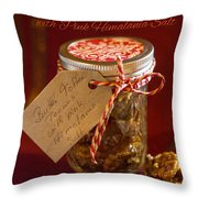 Butter Toffee Pecan Nuts With Himalania Salt Throw Pillow