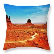 Buttes Throw Pillow