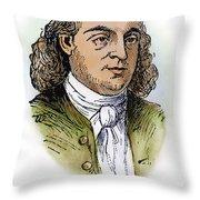 Button Gwinnett (1735-1777) Throw Pillow