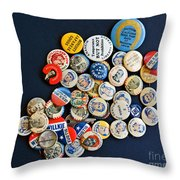 Buttons Throw Pillow