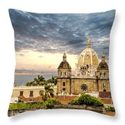 Clouds Over Cathedral Throw Pillow