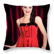 Cabaret Show Girl Performer In The Stage Spotlight Throw Pillow
