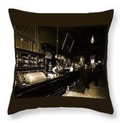 Cabinet Club Saloon 68 W. Congress Tucson Arizona C.1910-2008 Throw Pillow