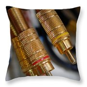 Cables And Wires Throw Pillow