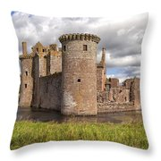 Caerlaverock Castle Throw Pillow