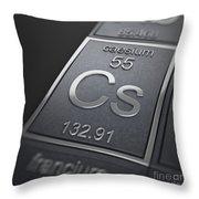 Caesium Chemical Element Throw Pillow