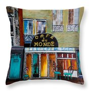 Cafe Du Monde Throw Pillow