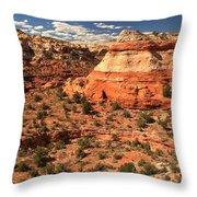 Calf Creek Canyon Red Rocks Throw Pillow