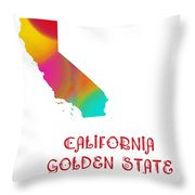 California State Map Collection 2 Throw Pillow