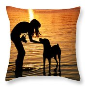 Call And Answer Throw Pillow