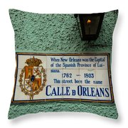 Calle Orleans Throw Pillow