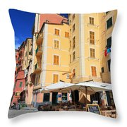 Camogli - Homes And Promenade Throw Pillow