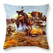 Camp Cooks Trouble Throw Pillow