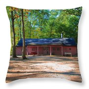 Camp Milton Throw Pillow