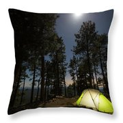 Camping On The Rim Throw Pillow