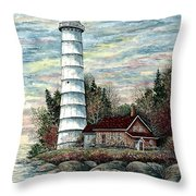 Cana Island Light Throw Pillow