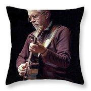 Canadian Folk Rocker Bruce Cockburn Throw Pillow