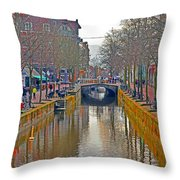 Canal Of Delft Throw Pillow