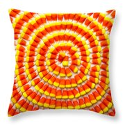 Candy Corn In Circles Throw Pillow