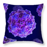 Canine Parvovirus Throw Pillow