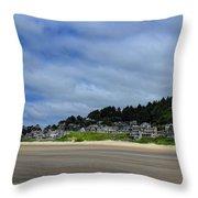 Cannon Beach North Throw Pillow