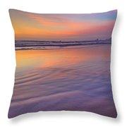 Cannon Beach Sunset Throw Pillow by Adam Mateo Fierro