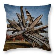 Canoe Sculpture Throw Pillow