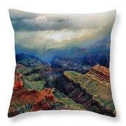 Canyon Clouds Throw Pillow