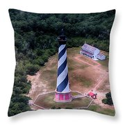 Cape Hatteras Lighthouse From Above Throw Pillow