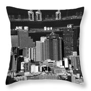 Cape Town Skyline - South Africa Throw Pillow