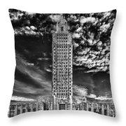 Capitol Building Of Louisiana Throw Pillow