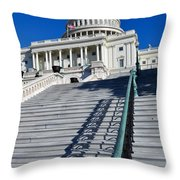 Capitol Hill Building In Washington Dc Throw Pillow