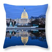 Capitol Reflecting Pool Throw Pillow