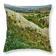 Cappadocia Landscape-turkey Throw Pillow