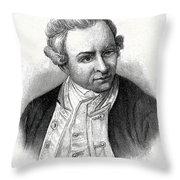 Captain James Cook, British Explorer Throw Pillow