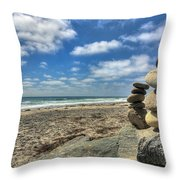 Cardiff Stacks Throw Pillow