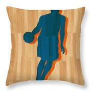 Carmelo Anthony New York Knicks Throw Pillow by Joe Hamilton