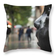 Carmen Awake Street Sculpture Throw Pillow