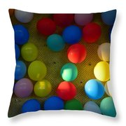 Carnival Balloons Throw Pillow