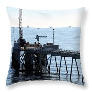 Carpinteria Pier Throw Pillow
